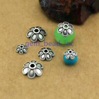 100pcs Tibetan Silver Metal Petal Bead Caps Spacer For DIY Jewelry Making 6-10mm