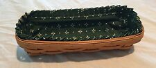 Longaberger 1995 Cracker Basket with Woven Traditions Green Liner
