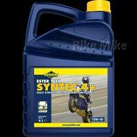 Putoline SYNTEC 4+ 10W-40 ESTER TECH vollsynthetisches 4-Takt Rennmotoröl 4 L