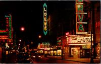 Vintage 1950s Granby Street Downtown Shopping at Night Norfolk Virginia Postcard