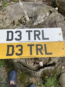 Personalised Car Vehicle Number Registration D3 TRL On Retention