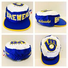 New w/Tags! Vintage 1980s Milwaukee Brewers MLB Baseball Painters Hat Cap