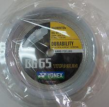YONEX Badminton String BG-65Ti  Titanium, 200 metres Coil , White, 100% Genuine