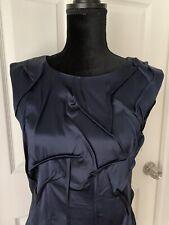 alice olivia dress Dark Blue Silk Ourgoing Sleeveless