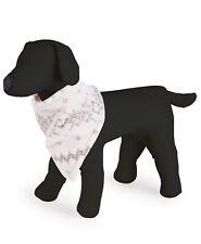 Family Pajamas Dog Bandana, Gray Winter Fairisle, Small to Medium