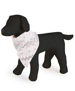 Family Pajamas Dog Bandana, Gray Winter Fairisle, Small to Medium