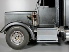 Pair Aluminum Side Step Tool Box Block Tamiya RC 1/14 Semi Globe Liner Man Truck