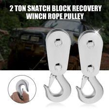 Umlenkrolle Snatch Block Rolle Winde Snatchblock 2T 2 Tonnen Seilwinde Seilrolle