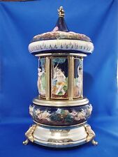 Capodimonte Carousel Music Reuge Musical Tunes Doctor Zhivago & Edelweiss