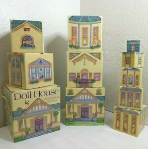 WJ Fantasy - My Stack & Play Victorian-Style Doll House Room 10 Building Blocks