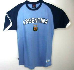 Men's AFA Argentina Futbol Soccer Embroidered T Shirt Jersey Olympics 2020 2021