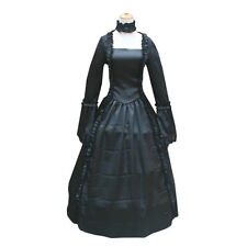 Goth Renaissance Black Victorian Dress Enchantress Ball Gown Vampire Witch Dress
