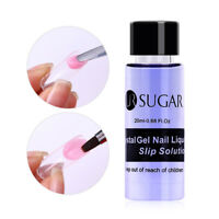 20ml Nail Art Liquid Slip Solution Acrylic Poly Nail Gel Extended Decor UR Sugar