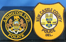 Obsolete Abington Twp PA & New Castle County DEL Police Shoulder Patches