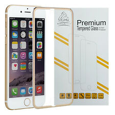 Metal Edge iPhone 7 Gold Gorilla Tech BRAND Screen Protector Tempered Glass