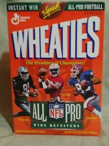 1996 Wheaties NFL All-Pro Wide Receivers Unopened Cereal Box Jerry Rice Reed