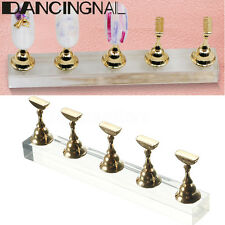 Nail Art Practice Display Stand False Nail Tip Holder Crystal Salon Magnetic