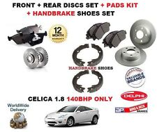 FOR TOYOTA CELICA 1.8 140BHP 1999-> FRONT + REAR BRAKE DISCS & PADS + SHOES KIT