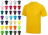 MENS 100% POLYESTER T-SHIRT AWDIs Cool Wicking PLAIN T SHIRT: Small - 5XL