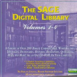The Sage Digital Library Volumes 1-4 PC CD over 200 Bibles Commentaries Studies