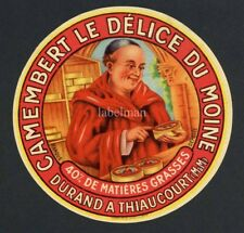Original French Camembert Cheese Label, Monk, 608