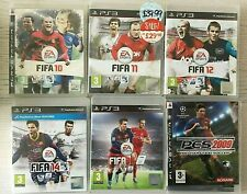 Fifa,PES Football Soccer Bundle PS3 Playstation 3 - 6 game collection