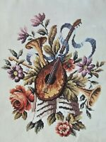 Oehlenschlager Cross Stitch Embroidery Wall Hanging Kit Music Floral Horns Roses