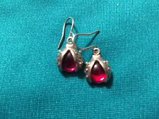 Ladybug 925 sterling jellybelly earrings cabochon vintage sale now!