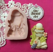 First communion Chalice II Silicone Mold Food Cake wax soap cupcake topper FDA