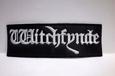 witchfynde white logo EMBROIDERED PATCH