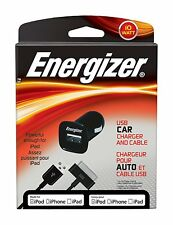 Energizer PC-1CAT USB 10W Car Charger 30pin Cable for iPad/iPod/iPhone 4 4GS 3