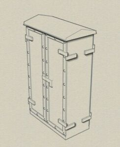 O gauge model railway relay cabinets old style wide double type