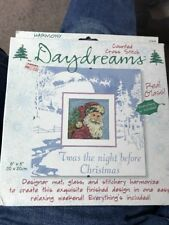 New Dimensions Harmony Under Glass Daydreams Cross Stitch Kit 72628 Pere Noel