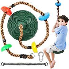 Tree Swing Disc Rope Jungle Gym Climbing Seat Kit Set Platform Outdoor for Kids