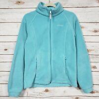 Columbia Light Blue Full Zip Fleece Jacket Womens Size 18 / 20