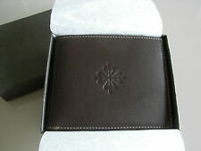 Patek Philippe classical brown men Leather Wallet with box. Suits to your chrono