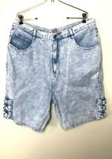 Womens Stefano Internatinal Jean Shorts Stone Wash Size 24 Vintage High Waist