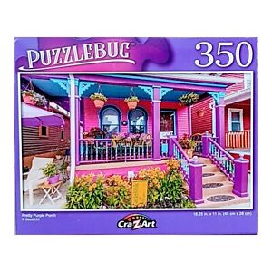 Puzzlebug Pretty Purple Porch Jigsaw Puzzle by Cra Z Art, 350 Pieces