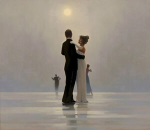 Jack Vettriano greeting card - Dance me to the End of Love (Square)
