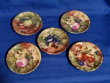 """ROCHARD Limoges France 6"""" Fruit Plates - A.J. Heritage - set of 5"""