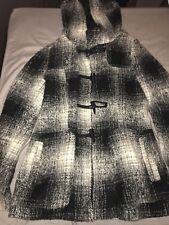 Womens Hooded Monochrome Duffle Jacket