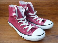 Converse CT Star in Tela Borgogna All Sneaker alte taglia UK 5 EU 37.5