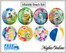 """New Inflatable 16"""" 20"""" Blow Up Beach Balls, All Designs For Holidays + Pools"""