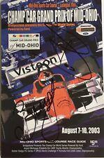 03 Champ Car Grand Prix of Mid-Ohio Program AUTOGRAPHED by Bourdais & Junqueira