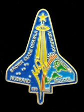 SPACE SHUTTLE - STS-107 - OFFICIAL PIN BADGE - Stamped Nasa STS-107 on rear
