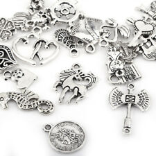 100pcs Bulk Lots Tibetan Silver Mix Charm Pendants Various Patterns Jewelry DIY