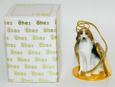 "American Foxhound Dog Figurine Ornament Angel 2"" Mini Figure Tiny Ones 1996"