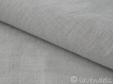 0,5 m Stoff Leinen ♥ enzym washed ♥  lichtgrau grau  230 g/m2