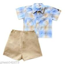 Oshkosh B'gosh Checkered Polo with Short Set (OCSS #23) - Size: 9 months