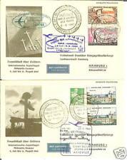 FRANCE 1960 PARIS TO HAMBURG COVERS'CAMP DE LA JEUNESS